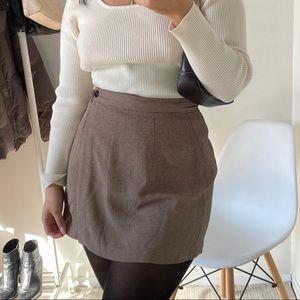 VINTAGE Plaid Wrap Mini Skirt -Size 6